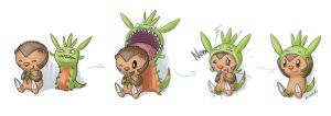 Chespin's new coat?! by Aksamar