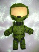 Halo - Master Chief plushie by Blackthornhiei