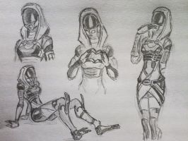 sketches Tali (7) by spaceMAXmarine