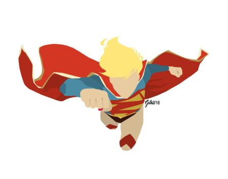 Supergirl Minimalist (New 52) by GuardianOfTheNight2
