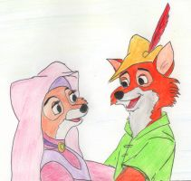 Robin Hood and Maid Marian by greydeer2010