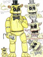 Golden Freddy Doodles by clonetrooper66