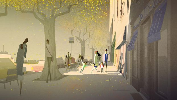 Street in fall by PascalCampion