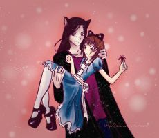 Alice and the Cheshire Cat by Zoehi