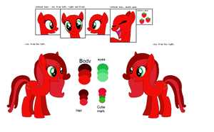 Strawberry Rose reference sheet by MLPAleshaZee