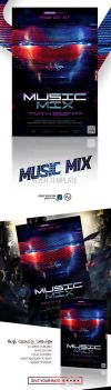 Music Mix Flyer Template by amorjesu