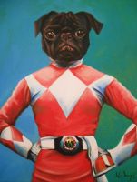 Naboo The Power Pug! by HillaryWhiteRabbit