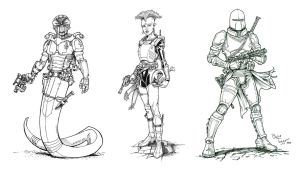 Bounty Hunter Lineup by staino