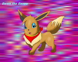 AT:Dawn the Eevee by SkyBlueArts