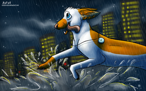 Runnin' in the Rain by RuckusRufus