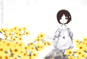 the yellow flower by momijigirl