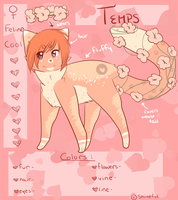 |temps reference sheet by shineful