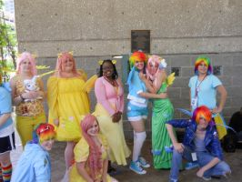 A-kon  23 MLP photoshoot : Rainbow Dash/Fluttershy by SilverMousyPie
