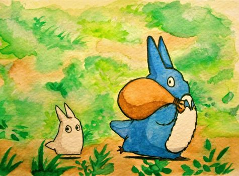 Totoro Forest Spirits by Trista-Willows