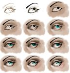 eye digital p[ainting step by step by koffinkandy