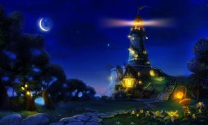 lighrhouse ( night view ) by lexie-smith