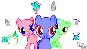 -AT- .:Look at the camera!:. Fillies BASE by GabbyPaint-PonyBases