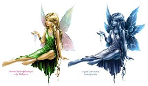 Tinkerbell Painted by holliquinn