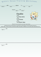 EV training worksheet by Dynastid