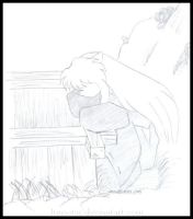 Inuyasha - At The Well by lunastar