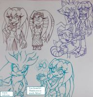 Hanging Out With Her Friends 02 by Sky-The-Echidna