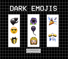 Dark Emojis by WonderDreamer1
