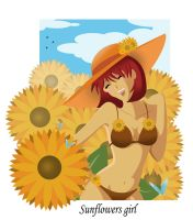Sunflowers Girl by FantasyHeart
