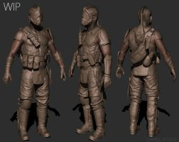 resistance fighter WIP by dpeteuil