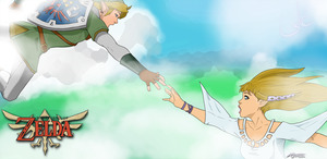 Link and Zelda falling for eachother by alijamZz