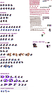 My sprite sheet. XD by CupidAngelWarrior