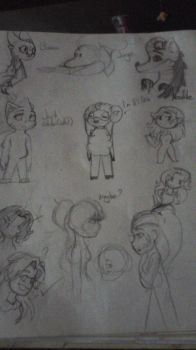 Some random doodles by Pink-Cherry-Bomb