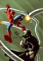 Spidey VS Ock by dcjosh