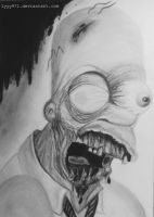 Zombie Homer Simpson drawing by lyyy971