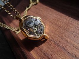 Steampunk miniature pendant by Hiddendemon-666