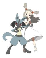 Jasmine and Lucario by johtoboy98