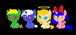 5 point christmas adopts :2 left: by Darkwolf222