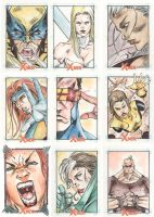 Xmen Archives Sketchcards 3 by Csyeung