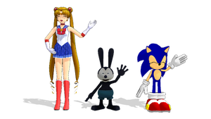 [MMD] My three heroes saying hi by MarcosLucky96