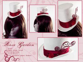 Rose Garden - Mini Top Hat by Elemental-Sight