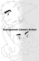 Transparent Lineart Action by Lombax2007