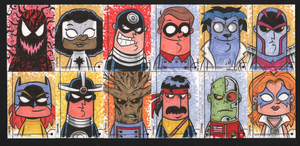 2013 Marvel Fleer Retro sketch cards 073-084 by thecheckeredman