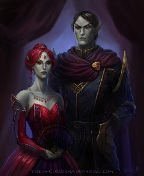 Noble Family Portrait by Velena-Gorosama