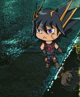 yusei reflection in the water by Zodia2