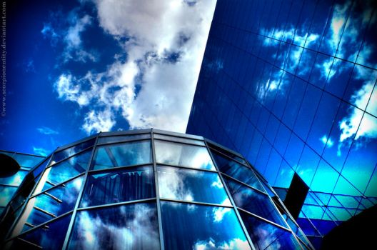Blue sky white clouds HDR by ScorpionEntity