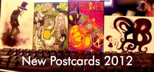New Spooky Postcards 2012 by anniemae04