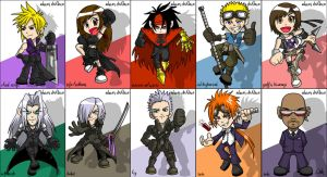 Advent Children Chibis by CerberusLives
