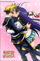 Zenkichi Medaka Kiss Colored by Kurogane-Raziel