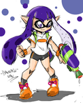 Splatoon - Purple Inkling by DANMAKUMAN