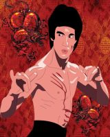 Bruce Lee Illustration by thewolverine94