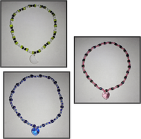 Moon and Hearts Bracelets by x-Luna-chan-x